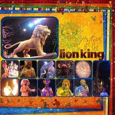 disney world Scrapbooking Layouts | Disney world festival of the lion king scrapbook page layout
