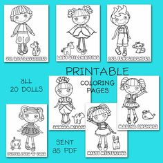 lalaloopsy party coloring pages...perhaps print these out, roll up use as stocking stuffer?