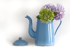 Circa 1920 French vintage lavender blue enamel by FrenchMelody, $36.00