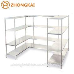 Zhongkai Commercial Equipment stainless steel fruit vegetable super market shelf Factory