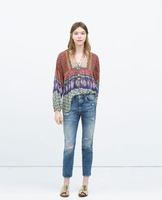 GAUZY DOUBLE LAYER TOP-Tops-TRF | ZARA United States