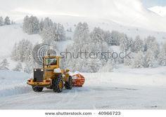 Snow Plow Truck Cartoon | Plow truck Stock Photos, Illustrations, and Vector Art