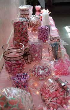 Sweets buffet for sweet sixteen.