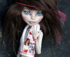 New OOAK Monster High Rochelle Goyle Custom Repaint BJD Inspired by Rogue Lively | eBay
