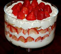 Hugs & CookiesXOXO: Strawberry Shortcake Trifle..Mmmmmmm