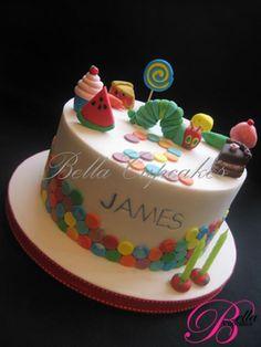 Hungry Caterpillar Birthday Cake. Awwww