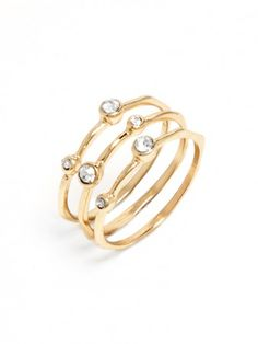 crystal circle trio rings / baublebar