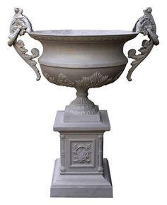 SUSANNA GALANIS' PICK - Monumental Neo Classical Cast Iron Garden Urn - $7200.