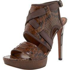 9b02799ceff Lanvin Python Slingback Bootie ( 825) found on Polyvore Slingback Shoes