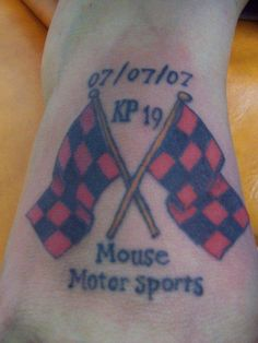 Shit this is such a used tattoo. Every racers memorial tattoo I swear. I need something that means more. Taylor was one of a kind and my tattoo for him will be just that. <3