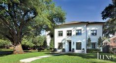 A Houston French Revival's sleek #exterior.