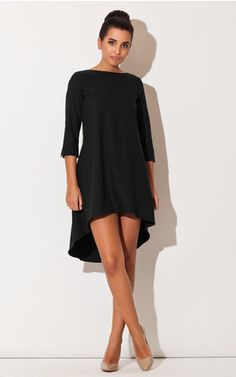 Looking for Mini Dresses? Call off the search with our Black Long Back Dress. Shop unique fashion at SilkFred Little Black Dress Outfit, Black Dress Outfits, Look Fashion, Unique Fashion, Fall Fashion, Fashion Ideas, Fashion Trends, Elegant Dresses, Cute Dresses