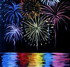 Fireworks Painting | Canvas & Cupcakes | Social Painting for any age | 4th of July