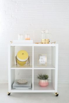 22 Amazing IKEA Shelf + Table Hacks to Try Immediately | Brit + Co