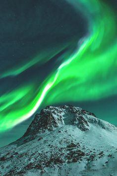 Polarlicht Berg