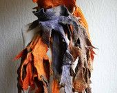 nuno felted shawl, large scarf, flower brooch corsage, wrap, art to wear, handmade, silk, wool, felt, silk collage, yellow, black. £129.00, via Etsy.