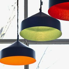 Matte Pendant Lamp - Blk/Turq by In-es.artdesign | MONOQI