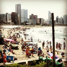 Durban beach #Durban #city #travel #instagram South America, Paradise, Africa, Trees, History, Live, World, Beach, Places