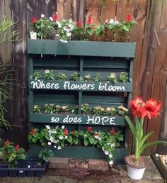 Transform free pallets into creative DIY furniture, home decor, planters and more! There are over 150 easy pallet ideas here to give your home and garden a personal touch. There are both indoor and outdoor DIY pallet projects to choose from. Unique Garden Decor, Unique Gardens, Amazing Gardens, Garden Ideas, Garden Projects, Garden Inspiration, Diy Pallet Projects, Pallet Ideas, Pallet Designs