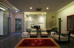 Warli inspired carpet with its vivid colours uplifting the office space. Visit Us:- http://www.zebaworld.com/ #CarpetDesign #InteriorDesign #ZebaWorld
