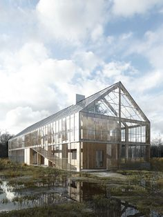42 Inspiring Sustainable Architecture Eco Friendly Home Ideas - HOOMDESIGN Determine even more relevant information on greenhouse architecture. Take a look at our website. Architecture Durable, Green Architecture, Sustainable Architecture, Architecture Design, Pavilion Architecture, Residential Architecture, Amazing Architecture, Landscape Architecture, Scandinavian Architecture