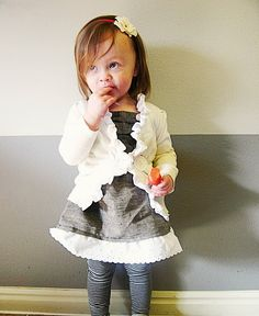 If I ever try to sew an outfit, it might be this one. Tutorial for shirt & cardigan...