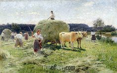 Haymaking - Mykola Pymonenko, The Kharkov State Museum of Fine Arts Kharkov Ukraine Russian Painting, Russian Art, Ukrainian Art, Art Database, Oil Painting Reproductions, Art Images, Painting & Drawing, Ukraine, Street Art
