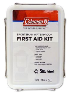 Coleman Sportsman Waterproof First Aid Kit 100Piece for boating >>> Check out this great product.(This is an Amazon affiliate link and I receive a commission for the sales)