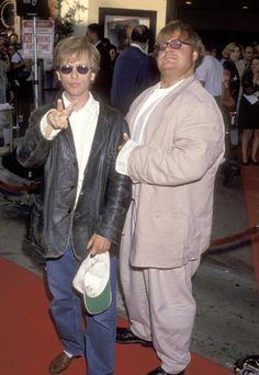 Chris Farley and David Spade