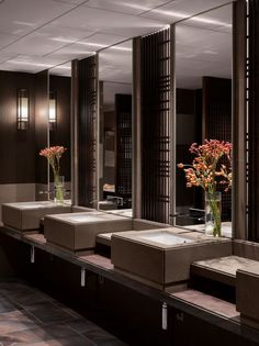 Public washrooms at the Four Seasons Kyoto by HBA Design.: