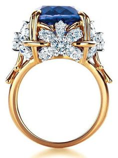 ♥ Tiffany & Co Schlumberger Flower ring with tanzanite and diamonds ♥ by Corlo