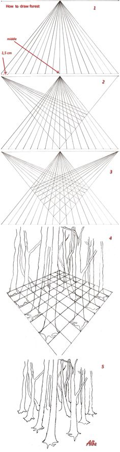 how_to_draw_forest_in_perspective_by_lamorghana-d5of3kn.jpg 971×3,634 pixels