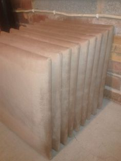Stack of Faux Suede (Latte)  Wall Tiles ready to be packaged & despatched