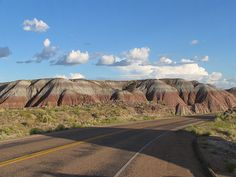 Painted Desert - These 'Painted-Hills' are colored because of the different mineral content of those layered-zones.