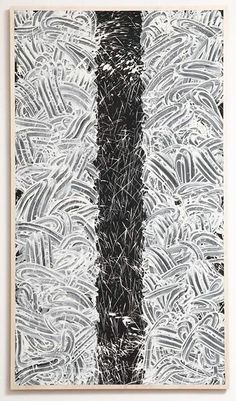 Untitled by Richard Long (2007), China Clay with acrylic medium and Paint on wood.