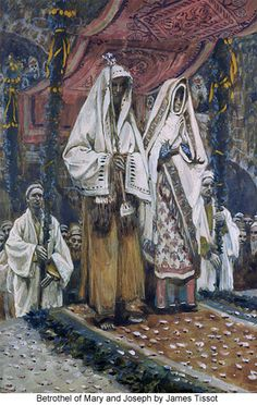 Betrothel of Mary and Joseph by James Tissot