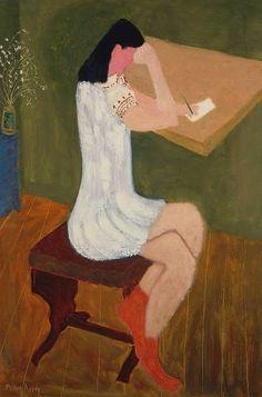 Girl Writing, Milton Avery. American (1885 - 1965)