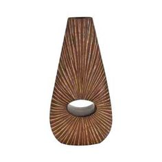 """Vase with an open silhouette.       Product: Vase  Construction Material: Polystone  Color: Brown    Dimensions: 20"""" H x 10"""" W"""