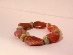 Abby      Amber Agate With Crazy Lace Agate by ScorpionMoonDesigns, $68.00
