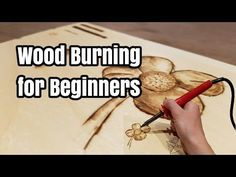 Pyrography / wood burning and coloring of a butterfly - YouTube