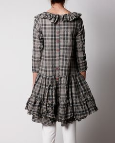I like cotton, I like relaxed shape and I like buttons down the back.  Ewa i Walla Webshop - 55250 - Dress