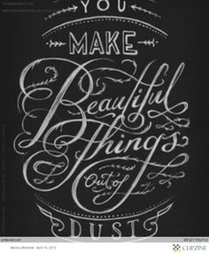 Chalkboard Art - beautiful things - Gungor