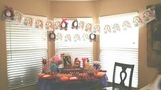 Disney Princess birthday banner and treat table. Disney Princess Birthday, Banner, Birthday Cake, Diy Crafts, Treats, Table, Desserts, Food, Picture Banner