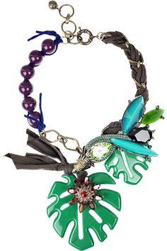 Lanvin|Palm Frond necklace|NET-A-PORTER.COM £956.52