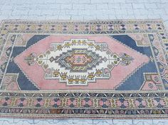 ****Welcome to our shop**** Vintage Anatolian Turkish Oushak Rug, A carpet for you, Totally primitive, vegetable dyes rug which will change your house atmosphere,Hand woven with high quality pure wool Excellent condition rug, washed and cleaned, ready to use at your home or office !Please write me if you have any question.  Size: 48 x 83 FT /// 145 x 252 (cm) ,  Stock no : 5094  Color : Pale Color  Material: organic wool and colored by natural paints. Style: Turkish  Please con...