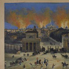 """Milano, Corso di Porta Venezia 4 agosto 1848. (Milano, Raccolta delle Stampe """"A. Bertarelli"""")"""