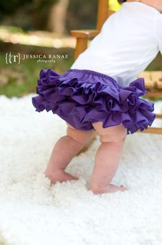 All Around Ruffle Diaper Cover Bloomer Baby Skirt Fabric Tutu Purple. $35.00, via Etsy.