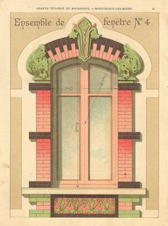 vintage, french window