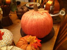 large plastic pumpkin covered with material fall n thanksgiving pumpkins pinterest plastic pumpkins - Large Plastic Pumpkins
