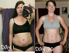 30 day shred-- I could only wish to get results like this!!!!!